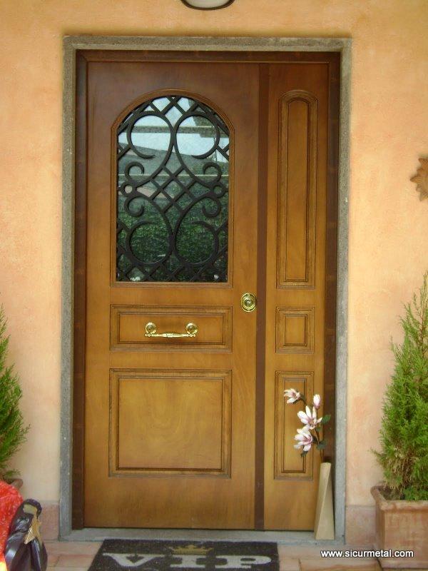 Porte blindate a vetro roma sicurmetal porte blindate su misura - Porta finestra blindata ...
